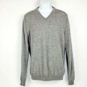 Nordstrom Cashmere Long Sleeve V-neck Sweater XL